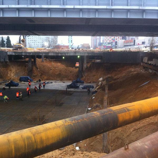 Строительство станции метрополитена